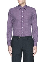 Star print cotton shirt