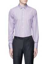 Slim fit stripe cotton shirt