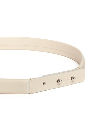 Detail View - Click To Enlarge - Isabel Marant - 'Root' thin lamb leather belt