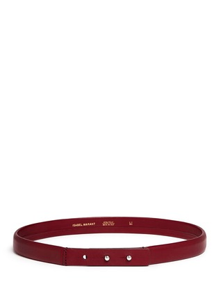 Main View - Click To Enlarge - Isabel Marant - 'Root' thin lamb leather belt