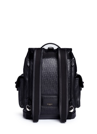 Back View - Click To Enlarge - Givenchy - 'Obsedia' star and trident embossed leather backpack