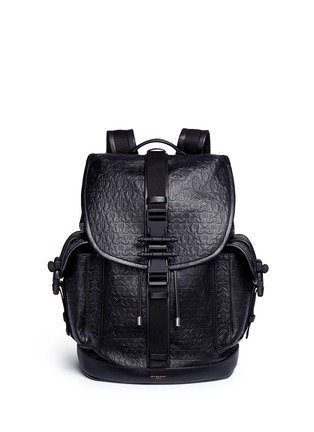 Main View - Click To Enlarge - Givenchy - 'Obsedia' star and trident embossed leather backpack