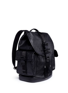 Givenchy 'Obsedia' star and trident embossed leather backpack