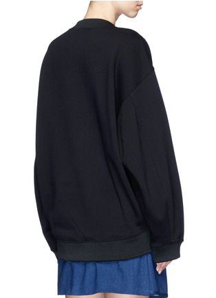 Back View - Click To Enlarge - Acne Studios - 'Beta' guitar patch appliqué sweatshirt