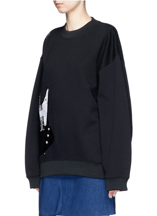 Front View - Click To Enlarge - Acne Studios - 'Beta' guitar patch appliqué sweatshirt