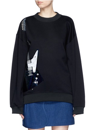Main View - Click To Enlarge - Acne Studios - 'Beta' guitar patch appliqué sweatshirt