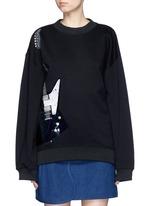 'Beta' guitar patch appliqué sweatshirt