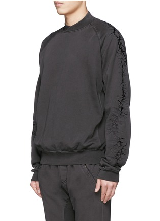 Front View - Click To Enlarge - Haider Ackermann - Thorn embroidery sleeve sweatshirt