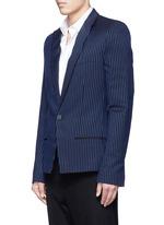 Pin stripe embroidery blazer