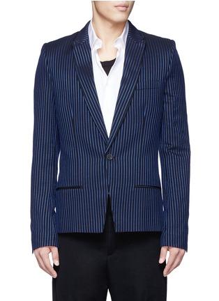 首图 - 点击放大 - HAIDER ACKERMANN - 拼色竖纹混棉西服外套