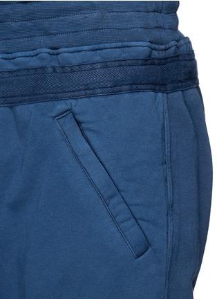 细节 - 点击放大 - HAIDER ACKERMANN - 不修边裤脚纯棉九分裤