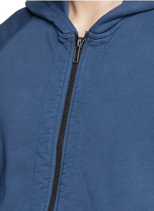 细节 - 点击放大 - HAIDER ACKERMANN - 拉链连帽纯棉外套