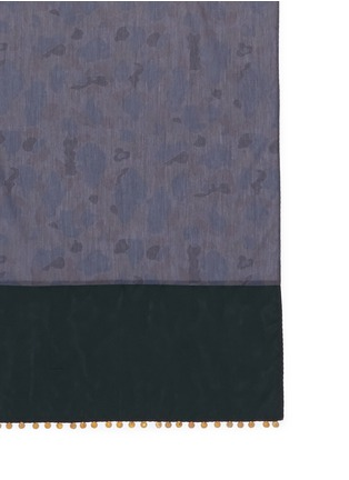 kolor - Medallion cupro trim camouflage cotton chambray scarf