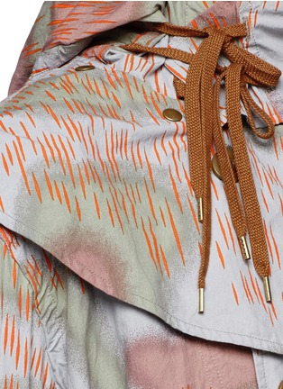 Detail View - Click To Enlarge - kolor - Camouflage print long coat
