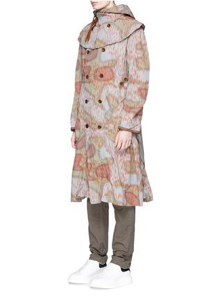 kolor-Camouflage print long coat
