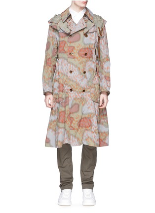 Main View - Click To Enlarge - kolor - Camouflage print long coat