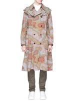 Camouflage print long coat