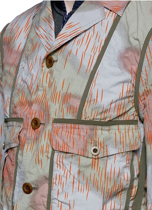Detail View - Click To Enlarge - kolor - Camouflage print tape trim jacket