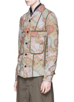 Front View - Click To Enlarge - kolor - Camouflage print tape trim jacket