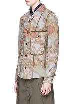 Camouflage print tape trim jacket