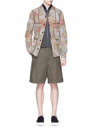 Figure View - Click To Enlarge - kolor - Camouflage print tape trim jacket