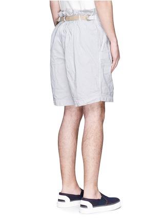 Back View - Click To Enlarge - kolor - Elasticated back crinkle shorts