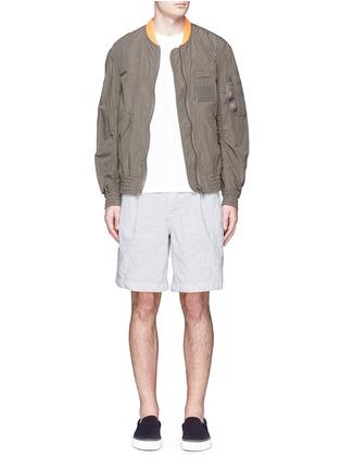 Figure View - Click To Enlarge - kolor - Elasticated back crinkle shorts
