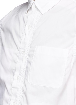 Detail View - Click To Enlarge - kolor - Wrinkle cotton poplin shirt