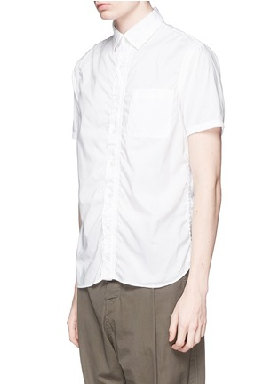 Front View - Click To Enlarge - kolor - Wrinkle cotton poplin shirt