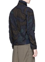 Camouflage print cotton blouson jacket