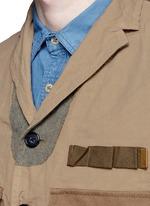 Contrast pocket crinkle military jacket