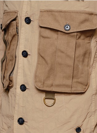 Detail View - Click To Enlarge - kolor - Contrast pocket crinkle military jacket