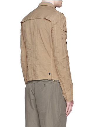 Back View - Click To Enlarge - kolor - Contrast pocket crinkle military jacket