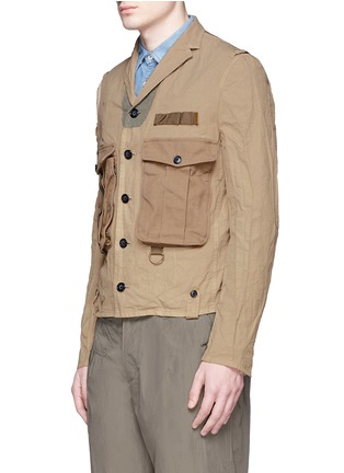 Front View - Click To Enlarge - kolor - Contrast pocket crinkle military jacket