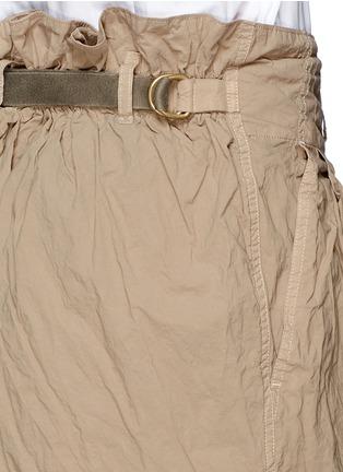 Detail View - Click To Enlarge - kolor - Elasticated back crinkle Bermuda shorts