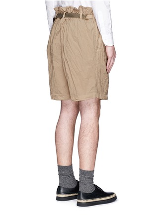 Back View - Click To Enlarge - kolor - Elasticated back crinkle Bermuda shorts