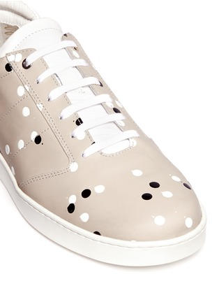 Detail View - Click To Enlarge - Want Les Essentiels De La Vie - 'Lennon' paint dot leather sneakers