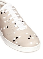'Lennon' paint dot leather sneakers
