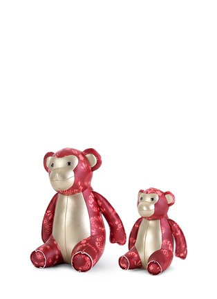 Main View - Click To Enlarge - Zuny - Chinese floral print monkey bookend set