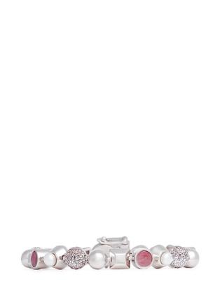 Main View - Click To Enlarge - Eddie Borgo - 'Collage' rose quartz pearl bracelet