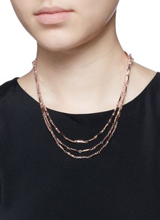 EDDIE BORGO 'Peaked Chain' tier necklace