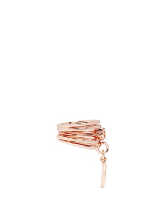 Figure View - Click To Enlarge - Eddie Borgo - 'Navette' drop charm crystal ring