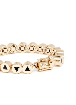 Detail View - Click To Enlarge - Eddie Borgo - 'Crystal Triangle Link' bracelet