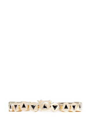 Main View - Click To Enlarge - Eddie Borgo - 'Crystal Triangle Link' bracelet