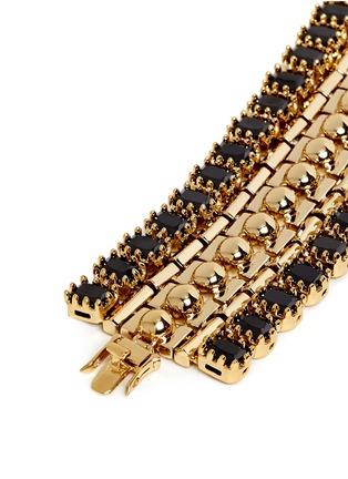 Detail View - Click To Enlarge - Eddie Borgo - 'Dome Estate Cuff' crystal bracelet
