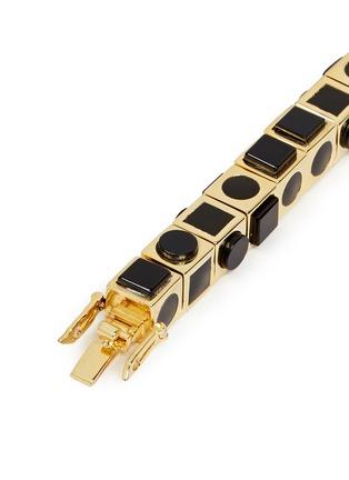 Detail View - Click To Enlarge - Eddie Borgo - 'Mosaic Cube' onyx bracelet