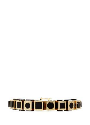 Main View - Click To Enlarge - Eddie Borgo - 'Mosaic Cube' onyx bracelet