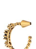 'Estate Hoop' rock crystal earrings