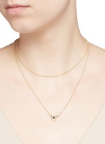 'Crystal Triangle' cylindrical pendant necklace