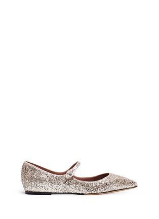 TABITHA SIMMONS-HERMIONE亮片皮革平底鞋